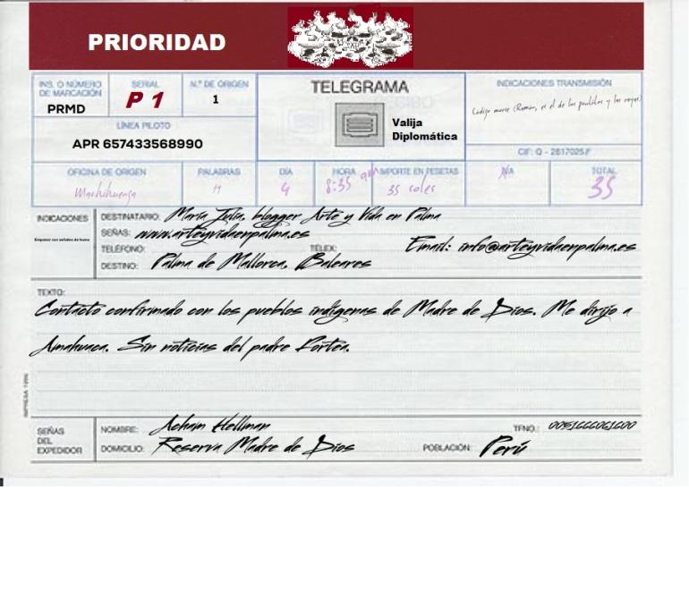 telegrama desde Peru 1