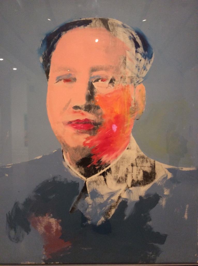 Andy Warhol-Facsímil del papel pintado con Mao