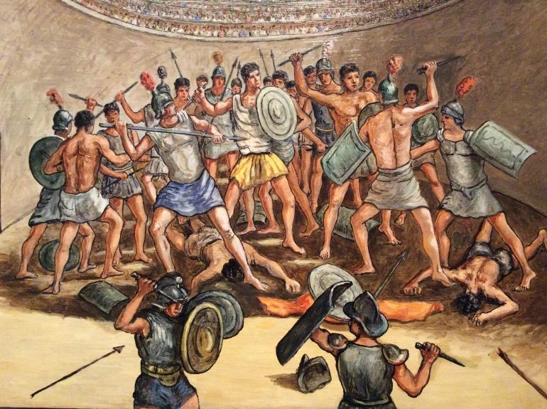 Giorgio De Chirico-Combate de gladiadores